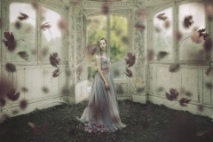 Keren Stanley girl in dress fine art conceptual photography